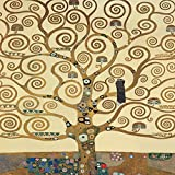 Gustav Klimt El árbol de la vida 50x 50cm cuadro impresión sobre panel de madera DM bordo negro