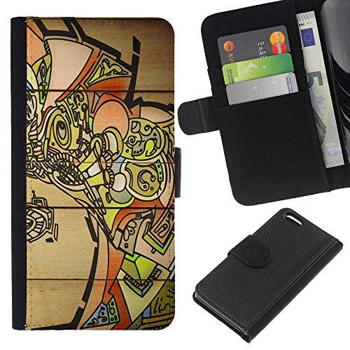 Graphic4You Niedlich Plastic Stars Design Brieftasche Leder Hülle Case Schutzhülle für Apple iPhone 5C Design #19