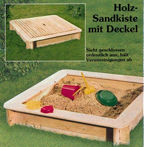 Elmato Sandkasten Fichte 120 x 120 cm + Deckel