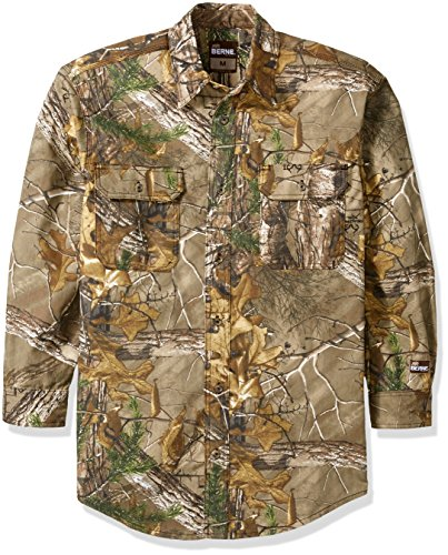 berne-mens-stalker-camouflage-button-down-shirt-realtree-xtra-small