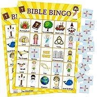 Fancy-Land-Bible-Bingo-Spiel-fr-den-Urlaub-Bible-School-24-Spieler-fr-Kinder-Christian-Sunday-Church