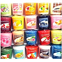 Lot de 12 échantillons de bougies officielles Yankee Candle, Home Inspiration - Assortiment de parfums exceptionnels