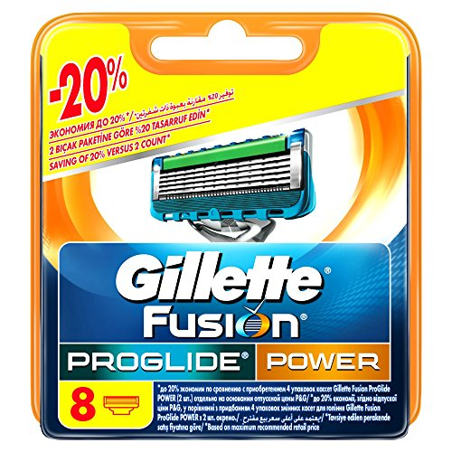 Gillette Proglide Power Lamette Ricambi, Set di 8