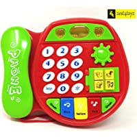 Zest 4 Toyz Cute Cartoon Design Mini Colorful Muiscal Learning Telephone Toys for Kids with Different Animal Sound , Pretend to Play, Learning Education Toy for Kid