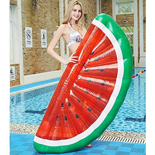 Summer vacation pool toys Wassermelonen-Schwimmbett, neues Sommer-Spielzeug im Freien, Schwimmbett auf Wasser, Faule Couch auf Wasser (Neue Couches Und Sofas)