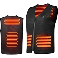 Fasola Heated Vest USB, Electric Vest Warmer Gilet for Men/Women, Lightweight Washable Heated Clothes With 3 Levels Heat…