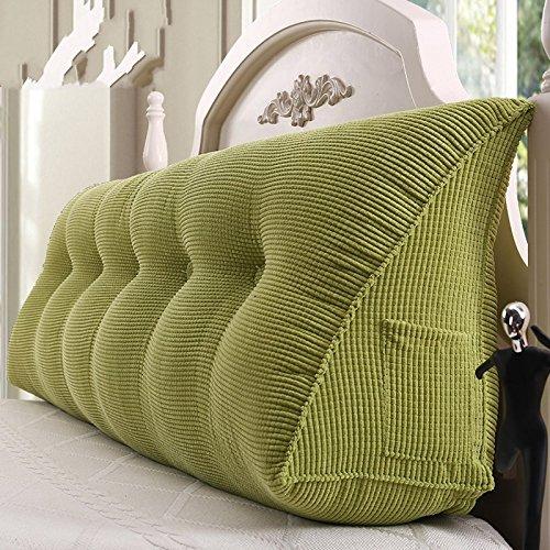 PIAOL Bett Zurück Weichen Bett Kopf Matratze Lesekissen Lendenkissen Kissen Schlafzimmer Kissen Sofa Rückenlehne Abnehmbar,Green-180 * 23 * 50cm