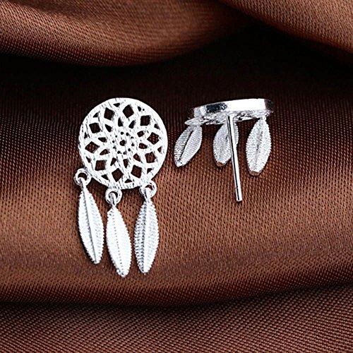HuaYang Damen Traumfänger Feder Quasten 1 Paar Ohrringe ()