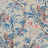 Textiles français Baumwollstoff   Die Raubvögel