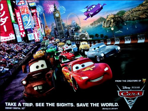 Unbekannt Cars 2 Movie Poster (2 Cars Poster Movie)