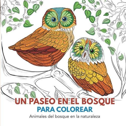 Un paseo en el bosque para colorear: Animales del bosque en la naturaleza