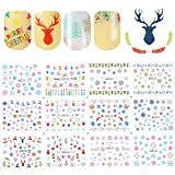 Born Pretty 1 Sheet Nail Art Water Decal Christmas Snowflakes Deer Manicure Transfer Sticker DIY Decoration