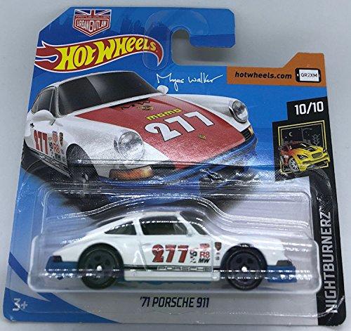 Hot Wheels 2018 \'71 Porsche 911 White 10/10 Nightburnerz 115/365 (Short Card) Magnus Walker