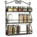 Perfect HANDICRAFTS Wall Mounted Shelf Spice Rack - Storage Organizer for Kitchen, Pantry, Cabinet, Counter top or Free Stand