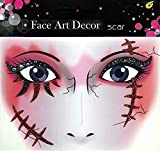 Face Art Decor Glitzer Tattoo Sticker Halloween Narben