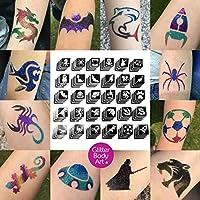 Boys Glitter Tattoo Bulk Pack x 120 Stencils