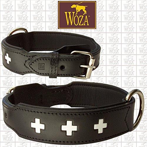 Woza Exclusive HUNDEHALSBAND 3,8/70CM Swiss Berner SENNNHUND Vollleder Rindleder Nappa Handmade Collar