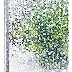 Homein Vinilo Cristal Ventana Película Ventana Brinda Privacidad sin cola Lámina Decorativa Electroestático Arcoíris Fenómeno Motivo Lunares Traslúcido Autoadhesivo Fácil Desmontar y Reutilizar 44.5x200cm