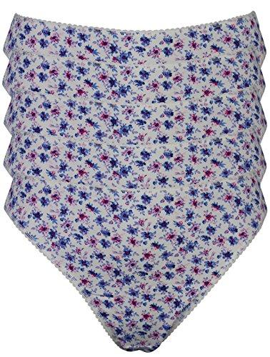 Ex-Store - Slip -  donna Blue & pink flowers