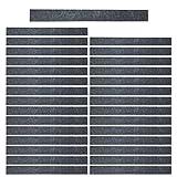 Mehrondo 30 Stück Dunkelgraue Filzstreifen Rohlinge FS209DG, 250x25x3 mm vorgeschnitten — ideal zum kreieren von Schlüsselanhänger und Schlüsselband