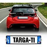 4R Quattroerre.it - 16010 - Kit Targa Auto Personalizzabile, Azzurro