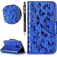LG K10 Hülle,LG K10 Ledertasche Handyhülle Brieftasche im BookStyle,SainCat Schön Retro 3D Schmetterling Muster... preisvergleich bei billige-tabletten.eu