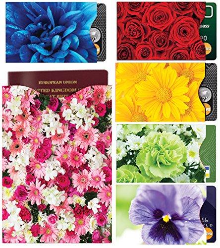 [12-Packung] RFID Blocking Hüllen - Designer Set, für Kreditkarte & ID Schützhüllen, ideal für im Portemonnaie / Passschutzhülle - Voller Schutz RFID & NFC - Wunderschöne Blumen - Bild 7