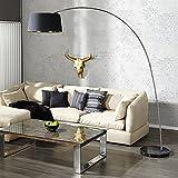 Stehleuchte Bogenlampe STRATOS 200cm schwarz gold