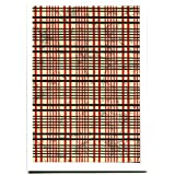 Tarjeta de felicitación celdas, japonés Japanya Papel, Beige Rojo Negro Gris, Color blanco
