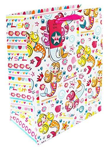 für Mädchen und Kinder, Meerjungfrauenmotiv, niedliche Geburtstagsgeschenkverpackung ()