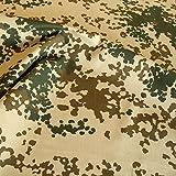 Bundeswehr Camouflage-Stoff Meterware - robuster Baumwollstoff im 3 Farben Wüsten Tarndruck