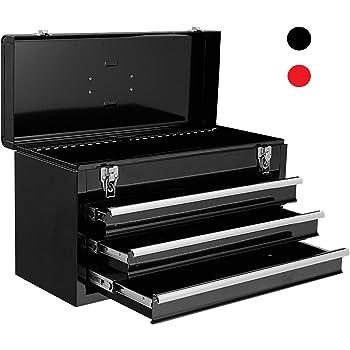 METALL Werkzeugkiste mit 8 Funktionen WK1-B BLACK EDITION