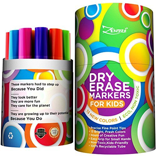 (Dry Erase Marker für Kinder Whiteboard löschbarer Marker Stifte Set Feiner Spitze–Eco-Stift Pack mit 13Einzigartige, helle Farben–Sie kostenlos Geschenk ebook- für weiß Board Kalender Kinder Schulbedarf)