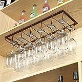 A-Fort Rack Holder Weinglasregal Regal Weinglashalter Weinglasregal Weinglasregal Champagner Glasregal Glasregal (Farbe : Bronze, größe : 30 * 20 * 7cm)