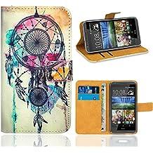 HTC Desire 820 Funda, FoneExpert Wallet Flip Billetera Carcasa Caso Cover Case Funda de Cuero Para HTC Desire 820