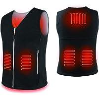 Heated Polar Fleece Vest with Power Bank 10000 mAh,Heated Body Warmer Lightweight Gilet for Man Woman, 3 Heat Levels…