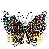 DIY Wärmeübertragung Aufkleber Applique Für T-Shirt, Bunte Schmetterling Patch T-shirt Kleider Pullover DIY Zubehör Dekoration