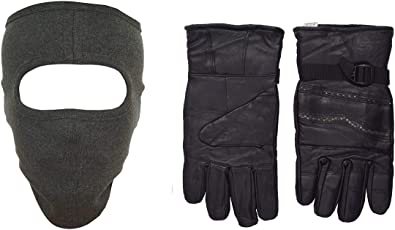 H-Store Balaclavas Mask Full Grey With Red&Black Filter Anti Pollution Dust Sun Protecion Face Cover Mask With Black Winter Gloves/ Bike Gloves/ Biker Gloves/ Motorcycle/ Bike Racing/ Riding/ Gym / Fitness / Full Fingers Gloves Best Grip For Men Women