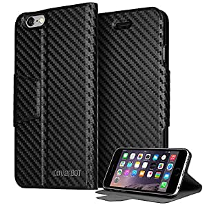 CoverBot iPhone 6 Slim Flip Case with Stand CARBON FIBER (Compatible with 4.7 iPhone 6)