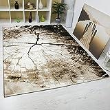 Moderner Wohnzimmer Teppich Braun Beige Baumstumpf Holz Optik Top Qualität 160x230 cm
