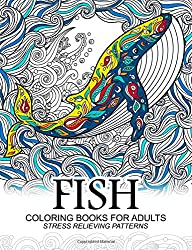 Fish Coloring Books for adults: dolphins, Whale, Shark in the sea Design