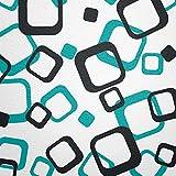 WANDfee Wandtattoo 64 Retro Vierecke mit FARBWUNSCH 2farbig Farbe türkis Schwarz