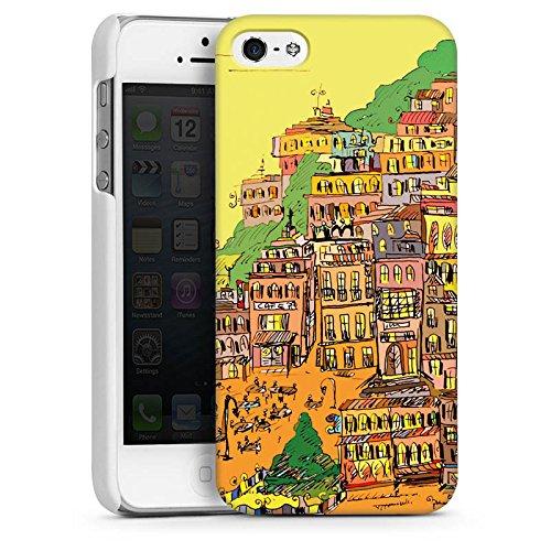 Apple iPhone 5s Housse étui coque protection Ville couleurs Art CasDur blanc