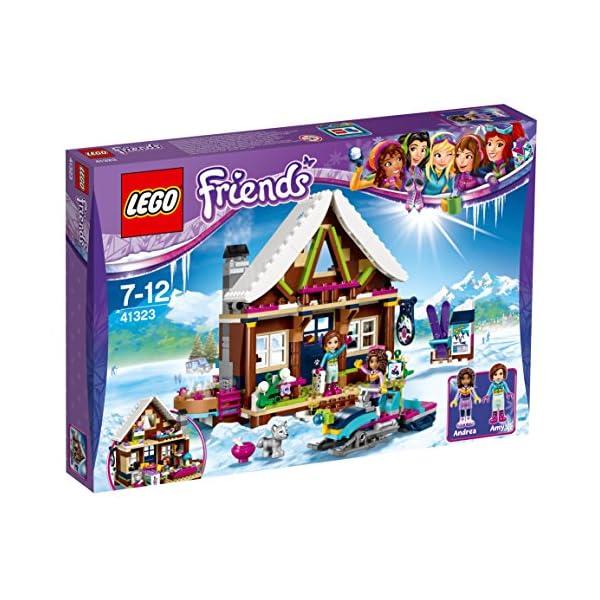 LEGO- Friends Lo Chalet del Villaggio Invernale, Multicolore, 41323 2 spesavip