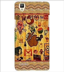 PrintDhaba Graffiti D-5684 Back Case Cover for OPPO F1 (Multi-Coloured)