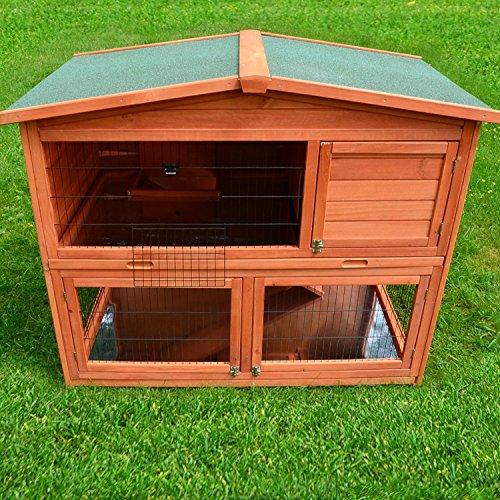 Zooprimus Kaninchenstall 21 Hasenkäfig – HASENHAUS-XL – Stall für Außenbereich (GRÖßE: (XL)   für Kleintiere: Hasen, Kaninchen, Meerschweinchen usw.) - 3