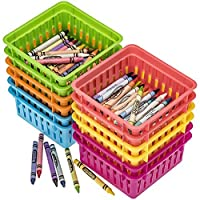Prextex Classroom Storage Baskets Crayon and Pencill Storage Baskets