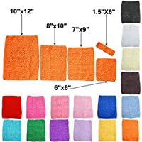 TtS Estirar La Tapa Del Tubo Cintura Tutu Crochet Headband Suministros 5 Tamaños Disponibles --15x15cm (Orange)
