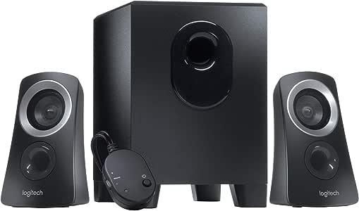 Logitech Z313 Système de Haut-Parleurs 2.1 avec Subwoofer, Son Riche, 50W en Puissance, Basses Puissantes, Entrée Audio 3,5 mm, Prise EU/France, PC/PS4/Xbox/TV/Smartphone/Tablette/Lecteur