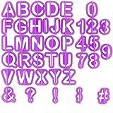 TFENG Fondant Ausstecher Set, 40 Teile Buchstaben und Zahlen Dekorieren, Backzubehör